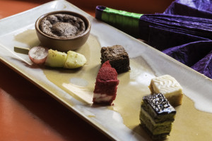 Chocolate Cake,Fruit Yakitori,Green Tea Macroon ,Chocolate Fondant