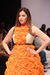 Actress Aditi Gowitrikar walked the ramp for Designer Megha Jain 1
