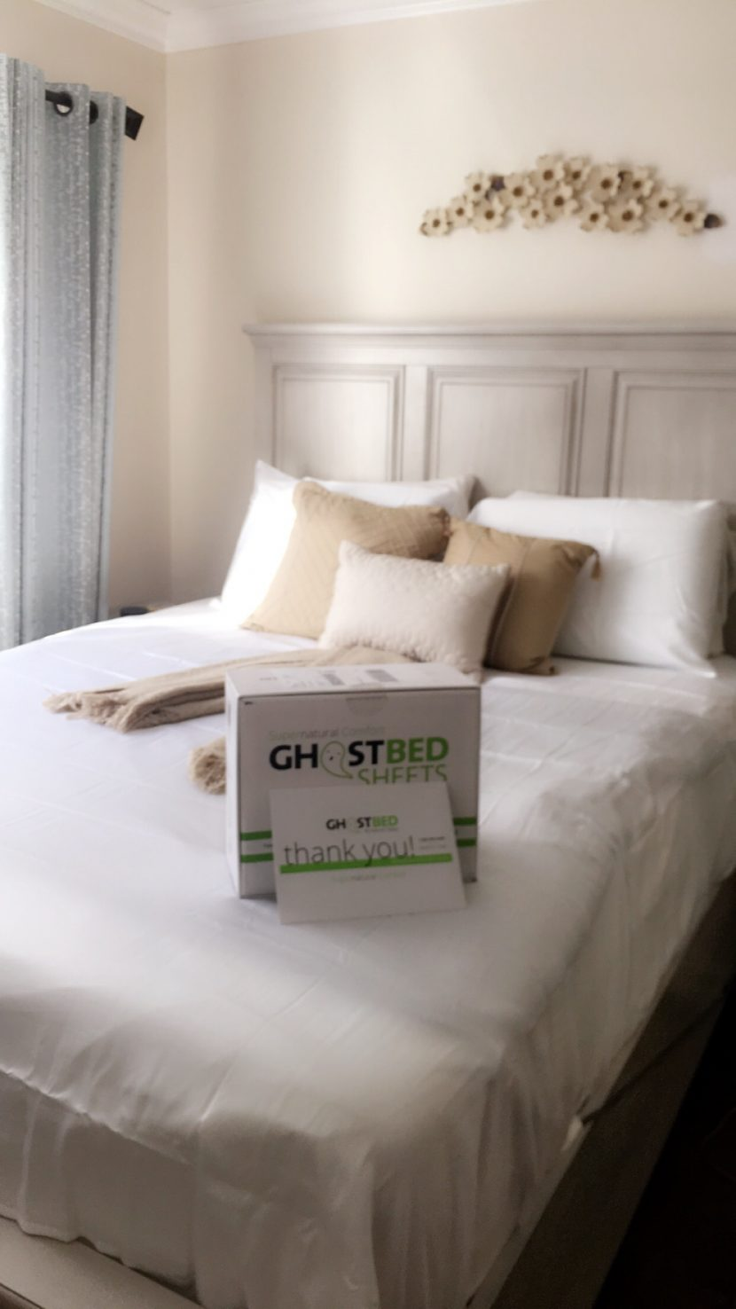 Nature's Sleep with Ghostbed bedsheets